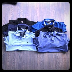 6 shirts - Men's Large (5 collared/1 button down)